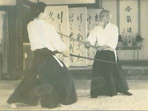 Photo kenjutsu Ueshiba - Tamura